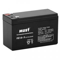 Must FC12-7 Аккумулятор герметичный свинцово-кислотный 12V7AH Battery