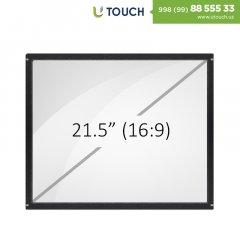 Инфракрасная сенсорная рамка со стеклом, 21.5-дюймов (10 касаний) (16-9)