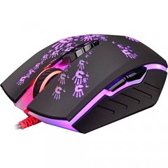 V5M+(X7Activated) Invincible Bloody Mouse Activated Core 4, With Metal Feet 3200dpi