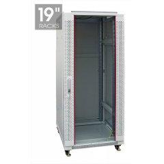 Шкаф настенный, 42U 800*1000mm ПЕРФОРИРОВАННЫЙ (неукомплектованный)