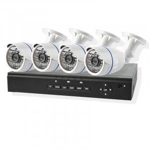 Комплект 4 Bullet-IP камеры POE 1080P 1 NVR POE