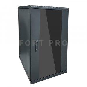 Шкаф настенный, 9U 450mm (Стекло)